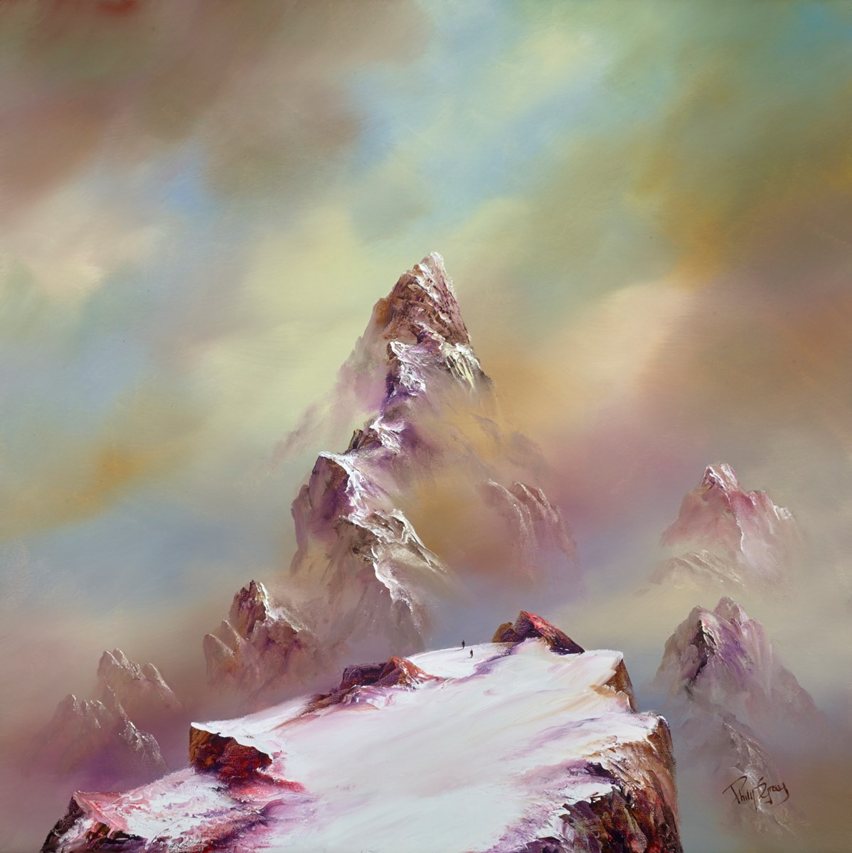 To the Summit I by philip gray -  sized 32x32 inches. Available from Whitewall Galleries